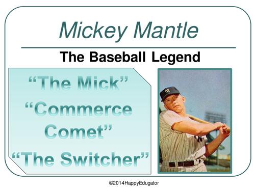 Mickey Mantle Baseball Legend PowerPoint
