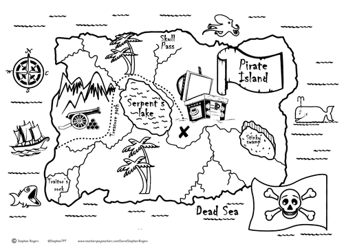 Pirate scavenger hunt by naturedetectives teaching resources tes pirate treasure map maxwellsz