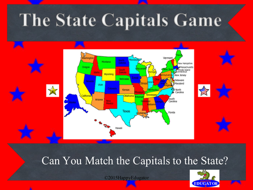 United States - State Capitals PowerPoint Game