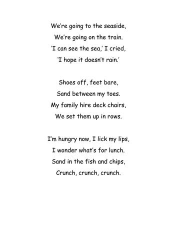 Seaside Rhyming Poem | Teaching Resources