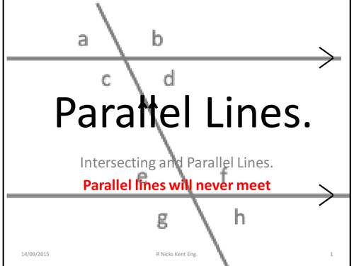 Parallel Lines ; intersection angles
