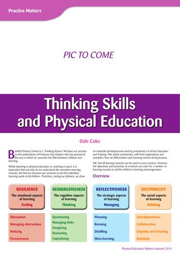 Thinking Skills In PE