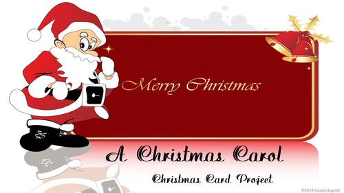 A Christmas Carol Christmas Card Project US version
