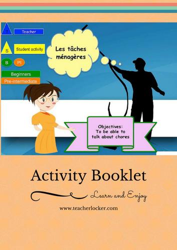 French Chores (lesson + Activities) No Prep / Les taches ménagère (leçon + exercices)