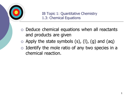 Topic 1 Stoichiometry, compete set of PowerPoints, IBDP Chemistry.