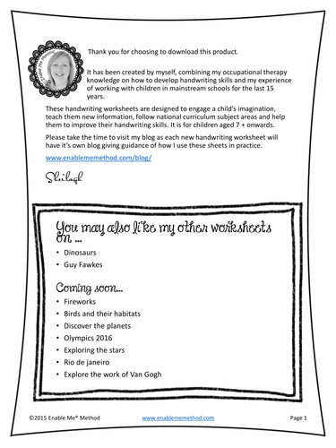 Early Years Cursive Handwriting Worksheets for 5 - 7 years: Pirates, Foundation & KS1
