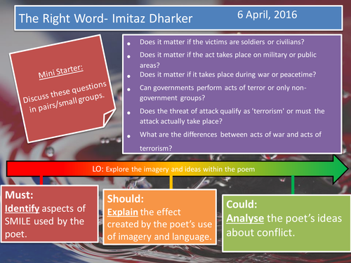The Right Word- Dharker