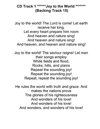 And Heaven and Nature Sing! - Musical Play Based on 14 Carols (which are supplied)