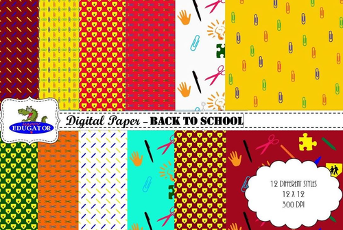 Digital Paper - Back to School