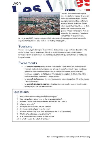 French: Les Villes - Lyon