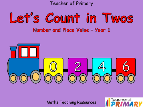 Counting in Twos  - PowerPoint, worksheets and wall display  (free resource)