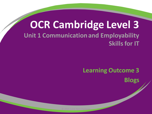 Communication and Employability Skills in ICT