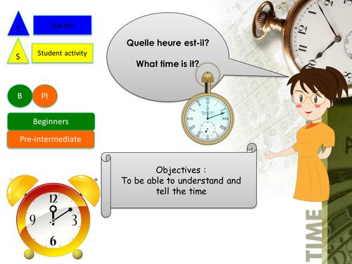 what time is it in french quelle heure est il en francais by foxtrotters teaching. Black Bedroom Furniture Sets. Home Design Ideas