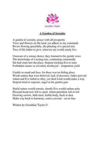 A Garden Of Serenity Poem