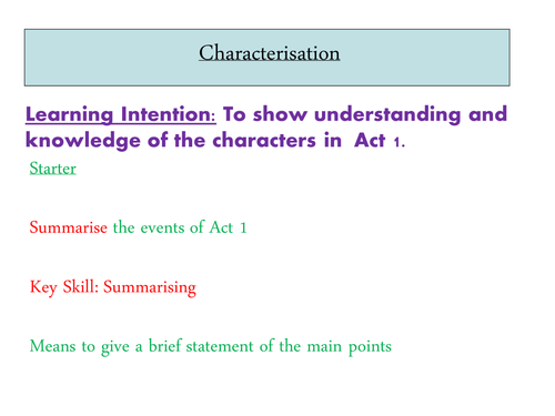 An Inspector Calls - Chracterisation in Act 1
