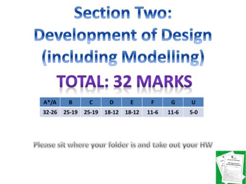 AQA Design & Technology Section 2 Development of Design