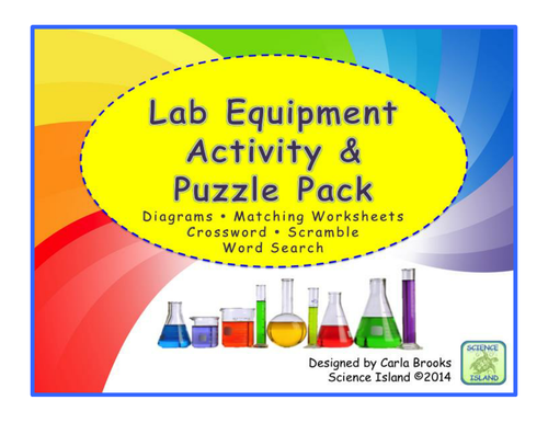 Lab Equipment Activity and Puzzles by Scienceisland Teaching – Science Lab Equipment Worksheet