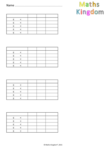 Mean from frequency tables card sort by uk teaching for Frequency table template