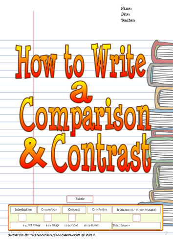 How to Write a Comparison and Contrast