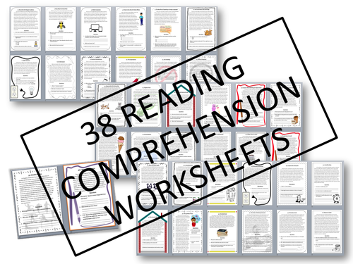 38 READING COMPREHENSION WORKSHEETS