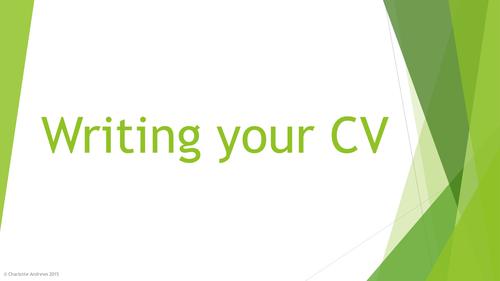 Writing a CV Powerpoint Presentation