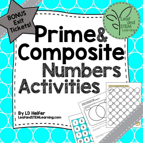 Prime and Composite Numbers Math Centers with Exit Tickets by – Math Worksheets Prime and Composite Numbers
