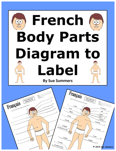 french body parts diagram to label with 20 body parts by suesummersshop teaching resources tes. Black Bedroom Furniture Sets. Home Design Ideas
