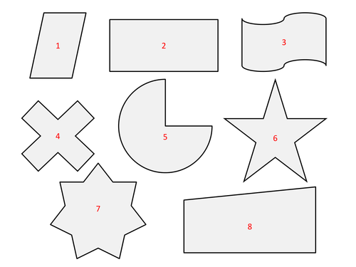 Symmetry Cut out and Fold by dh2119 - Teaching Resources - Tes