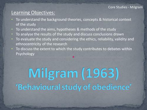 Milgram PowerPoint