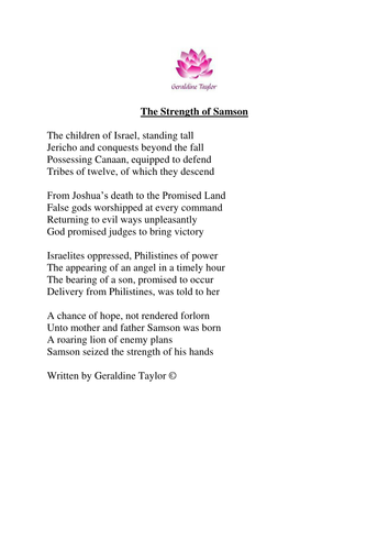 The Strength of Samson poem
