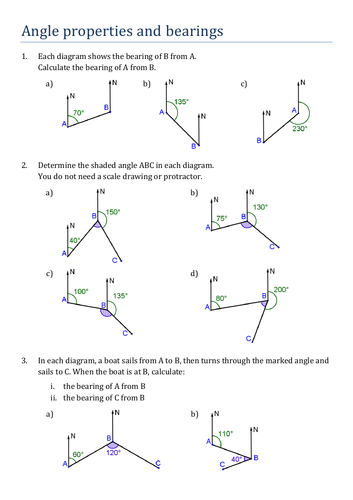Angle properties and bearings