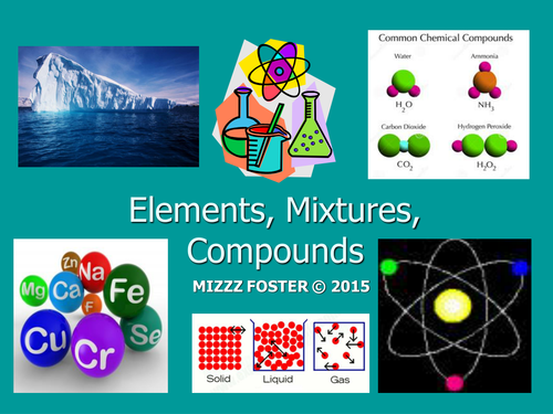 Elements, Compounds, Mixtures, Solutions Power Point by mizzzfoster ...