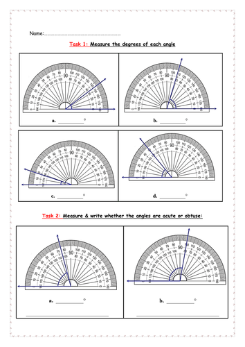Angle Measuring With Protractor By Thegirlinthereddress