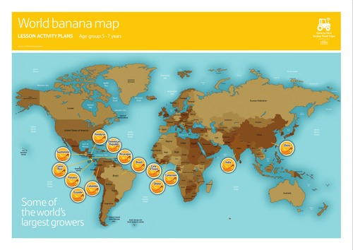 Banana world map poster 5 7 by eathappy teaching resources tes gumiabroncs Choice Image