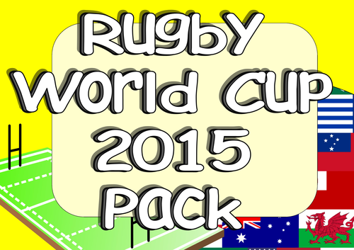 33% OFF! Rugby World Cup 2015 Cross-Curricula Learning Pack - 35 Activities Plus Bonus Lessons