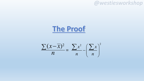 Statistics Variance Proof