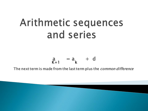 Arithmetic sequence and series