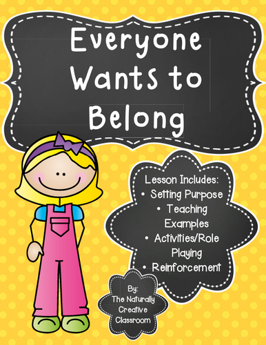Everyone Wants to Belong- An Acceptance Activity