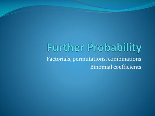 Alevel further probability