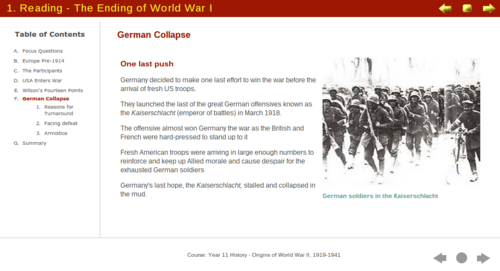 The Origins and Fighting of World War II - Digital Textbook Readings