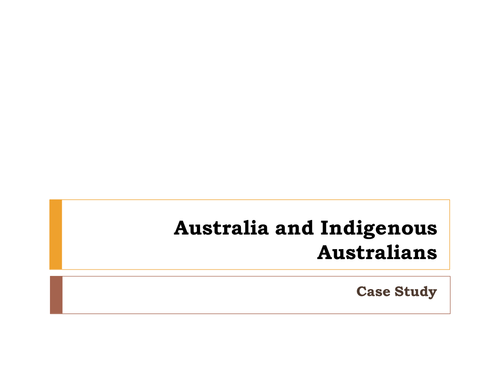 Australian Assimilation and the Stolen Generation