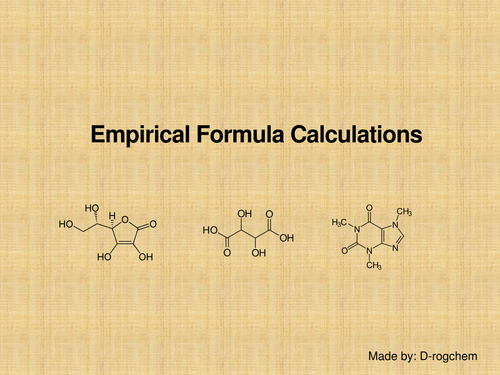 Chemistry: empirical formula calculations