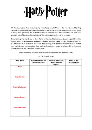 Gratifying image in harry potter printable worksheets