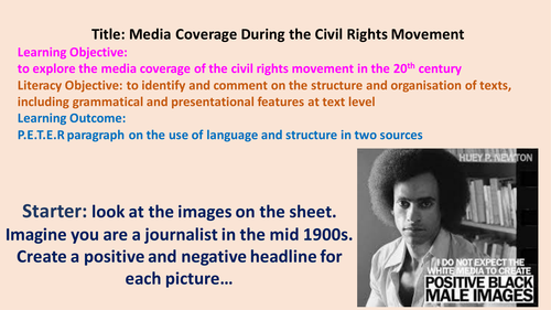 English Lesson for Black History Month: Media Coverage During the Civil Rights Movement