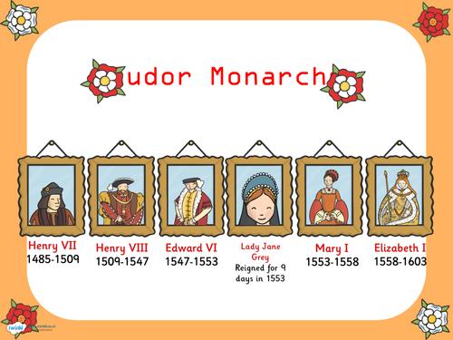 Tudor Kings and Queens Powerpoint Presentation Tudor Monarch