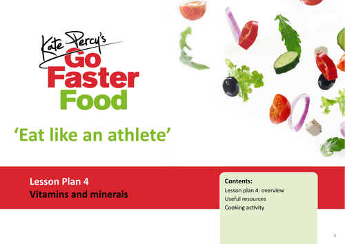 Eat Like An Athlete Lesson Plan - Vitamins and Minerals