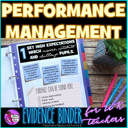 Performance Management: Teachers' Standards Evidence Binder