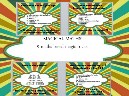 9 fun maths based magic tricks