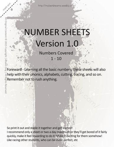 MLD - Basic Numbers Worksheets - Full Set - Letter Sized