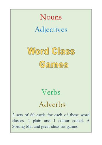 Word Class Games
